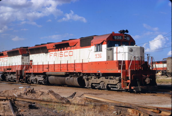 SD45 936 at Tulsa, Oklahoma on July 22, 1972 (James Claflin)