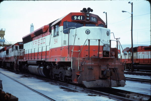 SD45 941 at Tulsa, Oklahoma in November 1978 (David Stray)