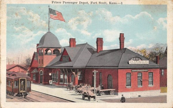 Fort Scott, Kansas Depot (Postcard)