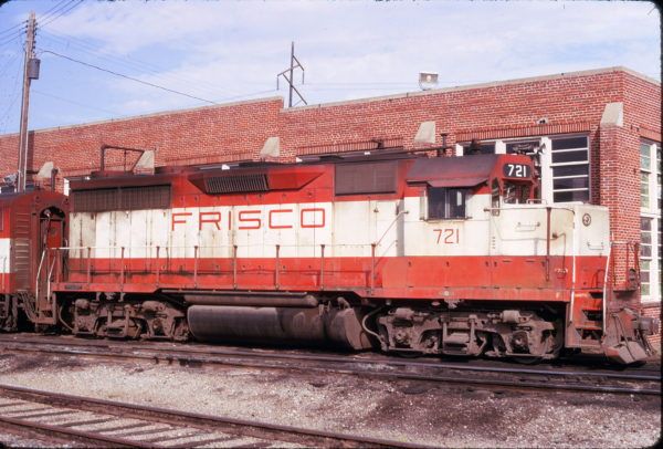 GP35 721 at Fort Smith, Arkansas on October 21, 1974