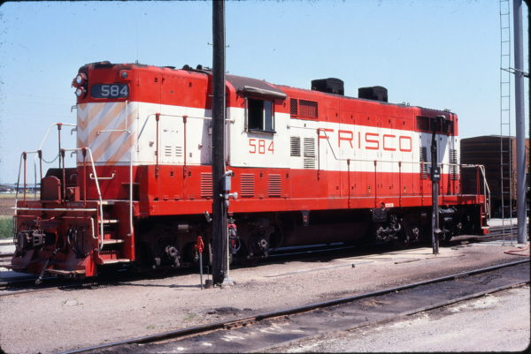 GP7 584 at Wichita, Kansas on June 11, 1978