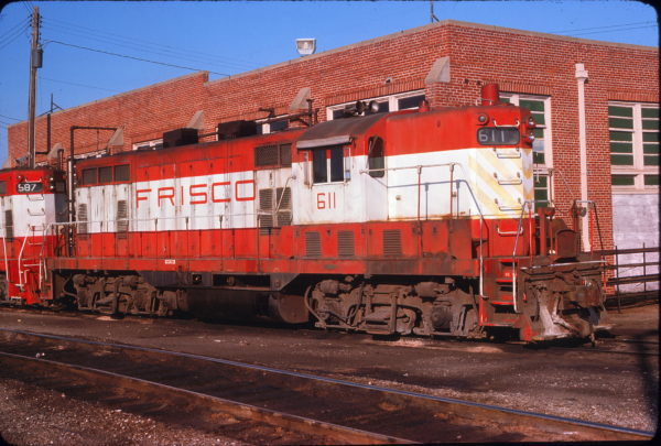 GP7 611 at Fort Smith, Arkansas on May 19, 1976