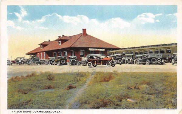 Okmulgee, Oklahoma Depot (Postcard)