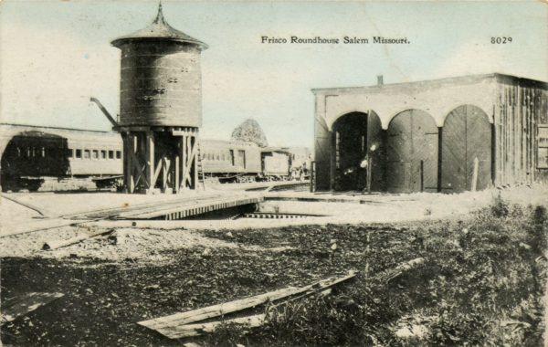 Salem, Missouri Roundhouse (Postcard)