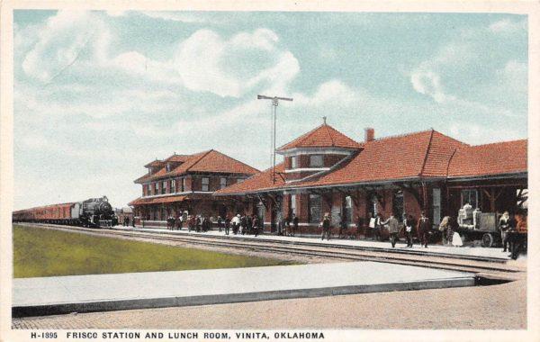 Vinita, Oklahoma Depot (Postcard)