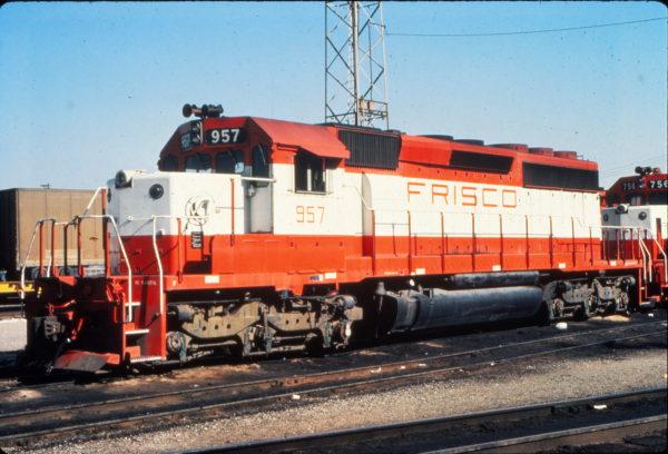 SD40-2 957 at Kansas City, Missouri in May 1980 (Vernon Ryder)