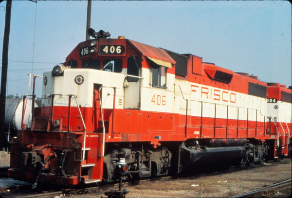 GP38-2 406 at St. Louis, Missouri in August 1980 (Vernon Ryder)