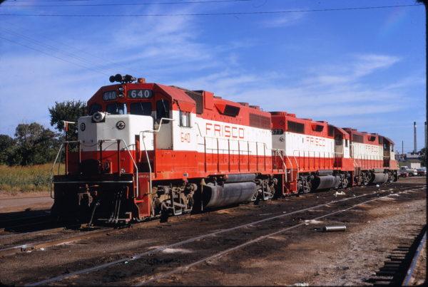 GP38AC 640 and GP38-2 677 at Tulsa, Oklahoma on July 17, 1972 (James Claflin)