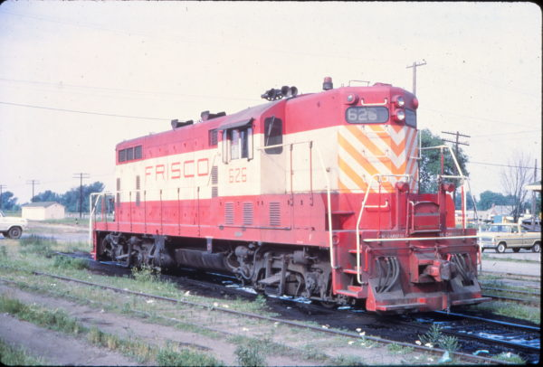 GP7 626 at Chippie (or Chaffee), Missouri in May 1972 (Vernon Ryder)