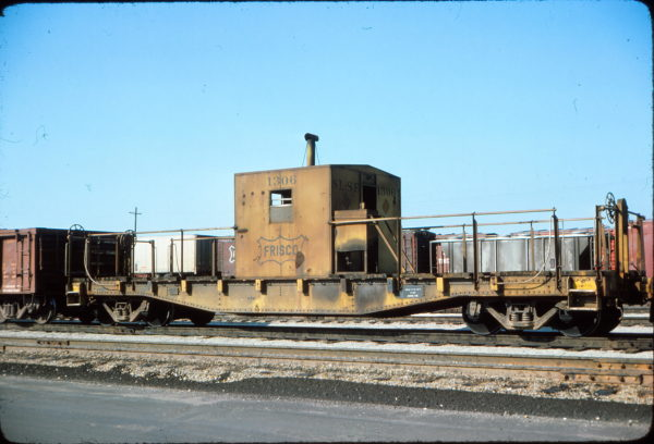 Transfer Caboose 1306 at Memphis, Tennessee on April 4, 1976 (Conniff Railroadania Collection)