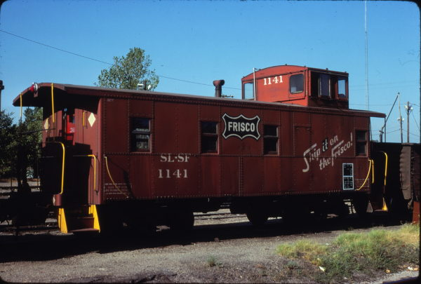 Caboose 1141 at Hugo, Oklahoma on August 18, 1980 (John Benson)