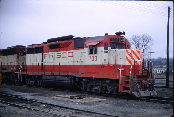 GP35 703 at Birmingham, Alabama on February 3, 1972 (Conniff Railroad Collection)