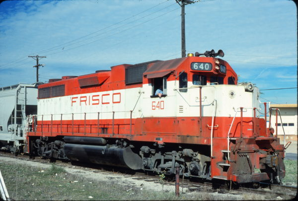 GP38AC 640 at Fort Worth, Texas on November 2, 1980 (Bill Phillips)
