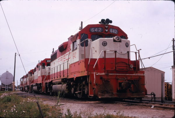 GP38AC 642 (location unknown) on May 10, 1974 (David Ingles)