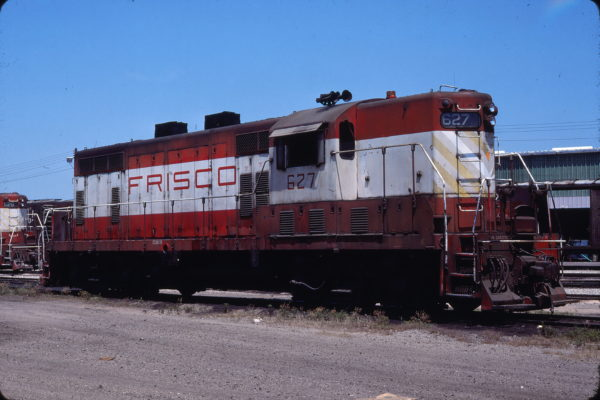 GP7 627 at Fort Smith, Arkansas on June 9, 1977 (Lloyd Neal)