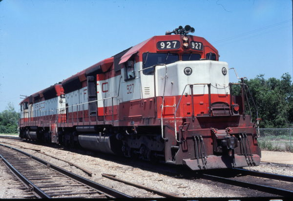 SD45 927 at Denison, Texas on May 10, 1980 (Gene Gant)