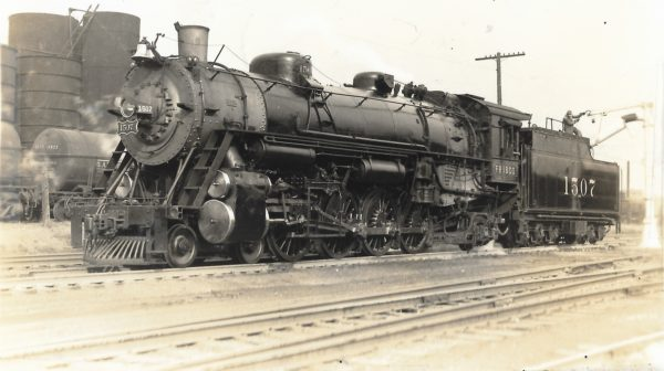 4-8-2 1507 at Tower Grove Station, St. Louis, Missouri in 1938