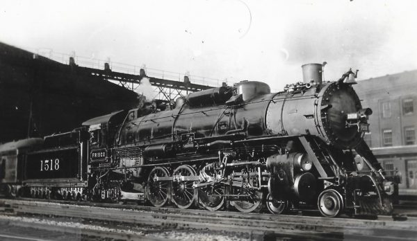 4-8-2 1518 at St. Louis, Missouri in August 1938