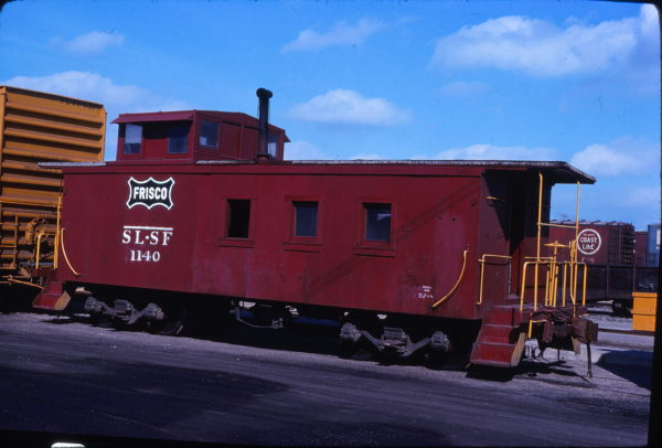 Caboose 1140 at Fort Worth, Texas on March 14, 1976 (Bill Phillips)