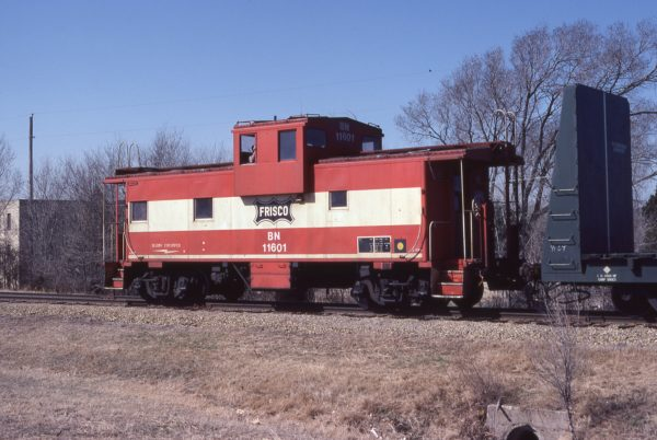 Caboose 11601 (Frisco 1273) at Wichita, Kansas on March 6, 1982 (Allan Ramsey)