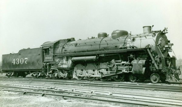 Frisco-built 4-8-2 4307 (date and location unknown)