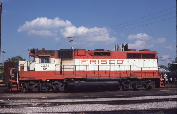 GP38-2 2338 (Frisco 667) at St. Louis, Missouri on May 27, 1981 (M.A. Wise)
