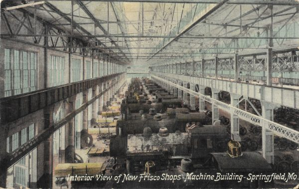 Interior View of New Frisco Shops - Springfield, Missouri