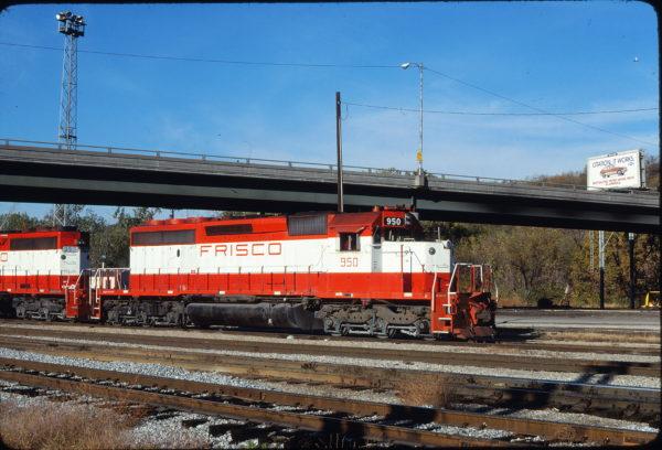 SD40-2 950 at Kansas City, Kansas on October 26, 1980 (James Primm II)