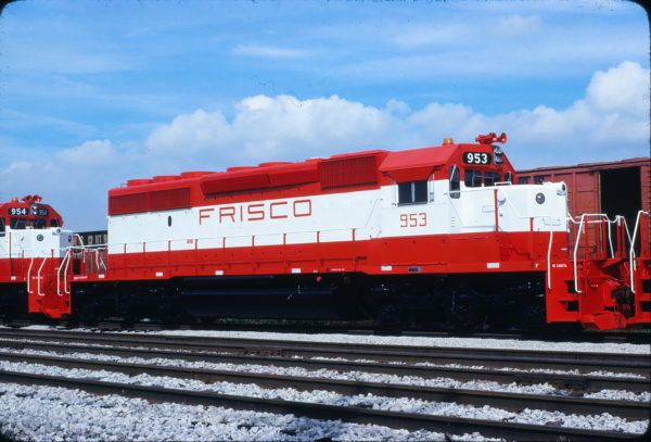 SD40-2 953 at Chicago, Illinois in July 1978 (J.W. Stubblefield)