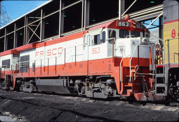 B30-7 863 at Salt Lake City, Utah in April 1978