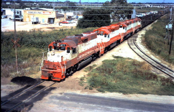 GP38-2s 677 and 424 (date and location unknown)