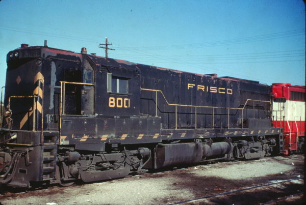 U25B 800 at Springfield, Missouri on July 1968 (Charly's Slides)