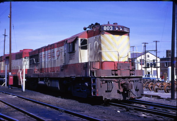 U25B 803 at Atlanta, Georgia (date unknown, possibly 1974)