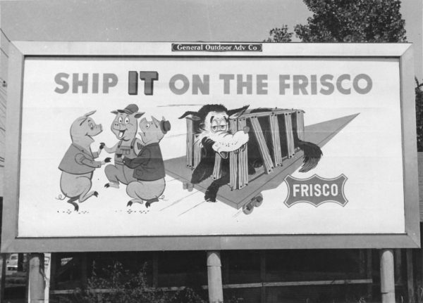 Frisco Billboard at Memphis, Tennessee on September 10, 1956 (General Outdoor Advertising Company)