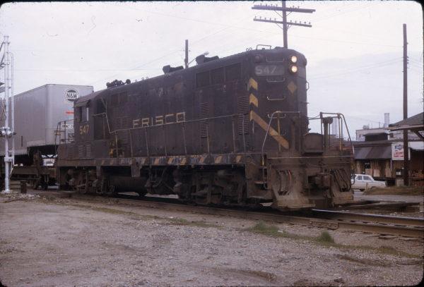 GP7 547 at Jonesboro, Arkansas on March 24, 1973 (Charles Judy)