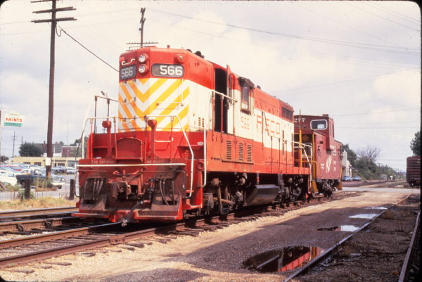 GP7 566 and Caboose 1277 at Rolla, Missouri on August 27, 1970