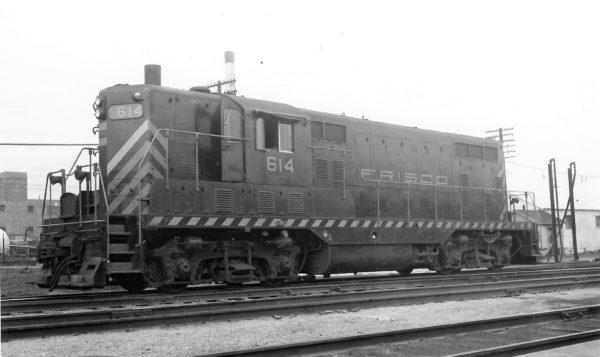 GP7 614 at Springfield, Missouri on March 29, 1953 (Arthur B. Johnson)