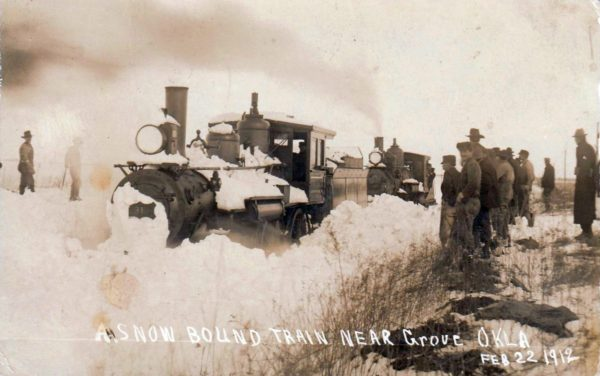 Snowbound Train - Grove, Oklahoma (February 22, 1912) (Corrected)