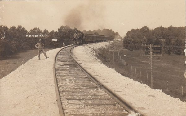 Steam Passenger Train at Mansfield, Missouri (date unknown)
