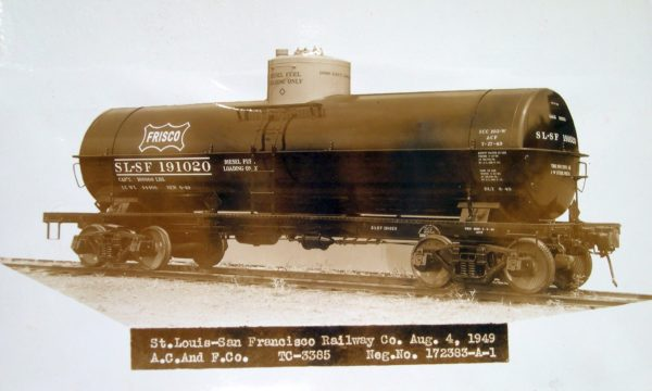 Tank Car 191020 (ACF Builders Photo) on August 4, 1949