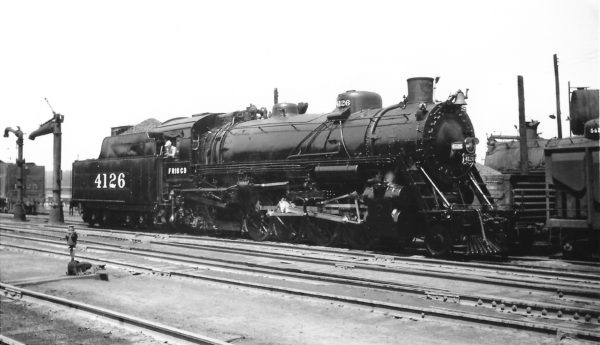2-8-2 4126 just out of the shops at Springfield, Missouri on September 14, 1947 (Arthur B. Johnson)