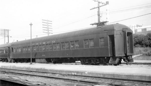 "52 Seat Chair Car ""Enid"" at Springfield, Missouri on September 25, 1966 (Arthur B. Johnson)"