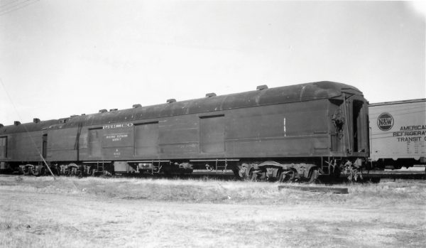 Baggage Car 446 at Springfield, Missouri on November 5, 1967 (Arthur B. Johnson)