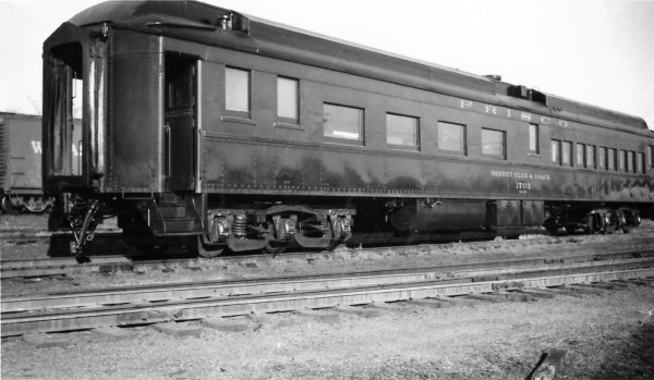 Buffet, Club and Coach Car 1703 at Springfield, Missouri on December 20, 1947 (Arthur B. Johnson)