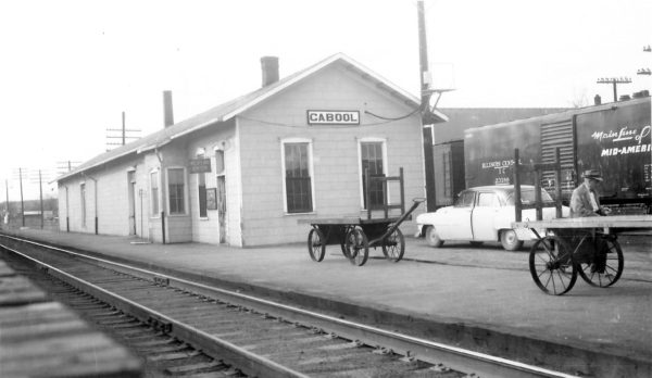 Cabool, Missouri Depot on October 16, 1949 (Arthur B. Johnson)