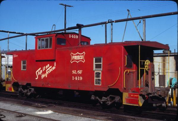 Caboose 1419 at Kansas City, Missouri on July 4, 1977 (John Benson)