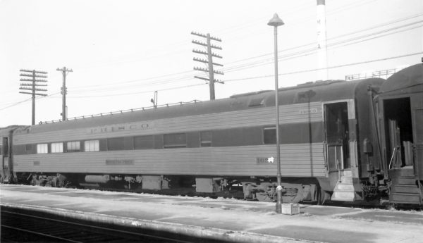 Cafe/Lounge Car 1650 (Sterling Price) at Springfield, Missouri on December 17, 1967 (Arthur B. Johnson)