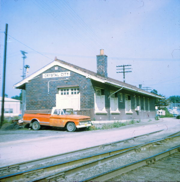 Crystal City, Missouri Depot in 1971 (Ken McElreath)