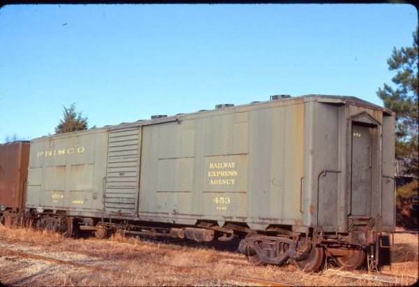 Express Boxcar 453 at Smithville, Mississippi on December 21, 1976 (John Benson)