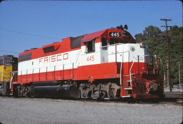 GP38-2 445 at Kansas City, Missouri on June 30, 1980 (James Primm II)